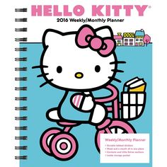 Hello Kitty Softcover Weekly Planner | $16.99 | Sweet and cute, Hello Kitty continues to be a pop culture icon. She is one of the most unique and identifiable brands of our time, with fans of all ages and demographics. Spend the year with her with Hello Kitty Softcover Weekly Planner.