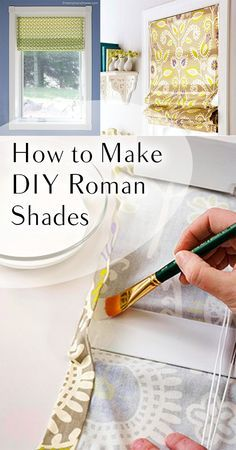 How to Make DIY Roman Shades More Homemade Home Decor, Easy Home Decor, Diy Curtains, Curtains With Blinds, Valances, Bedroom Curtains, Diy Bedroom, Blinds Diy, Diy Roman Blinds