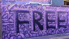 Free #Brighton #streetart #Brightongraffiti #brighton_Ig #paintedcity