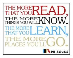 'The more that you read...' by Dr. Seuss: Free 8  x 10 download by the scrapshoppeblog #Dr_Seuss #Quotation #thescrapshoppeblog