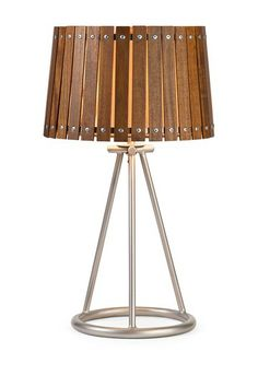 Acacia Wood Shade Table Lamp