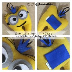 We think you might like these boards Tooth Pillow, Tooth Fairy Pillow, Dental Kids, Kids Daycare, Cute Kids Crafts, Crafts For Kids To Make, Minion Pillow, Sewing Projects For Kids, Sewing Ideas