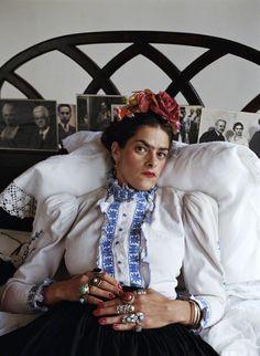 Tracey Emin as Frida Kahlo by Mary McCartney, 2000