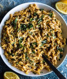 Gemelli Pasta Recipe, Fusilli Recipes, Basil Recipes, Pasta Salad Recipes, Veggie Recipes, Baby Food Recipes, Italian Recipes, Meatless Recipes, Veggie Meals