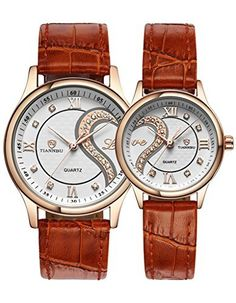 OOFIT His and Her Brown Leather Strap Golden Plated Gift ... https://www.amazon.com/dp/B018JWSCWI/ref=cm_sw_r_pi_dp_uSONxbEHVX2CA