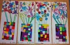 Apex Elementary Art: kindergarten flower bouquets