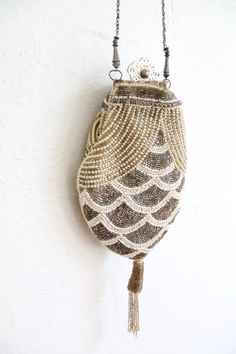 Vintage 20s Deco Beaded Purse // VAUX VINTAGE