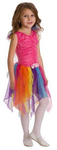 Little Adventures Pink Rainbow Fairy Princess Costume (size 3-5)   Free Hair Bow ** More info could be found at the image url.
