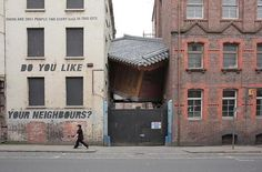 bridging home, do ho suh, 2010 korean house installation in liverpool