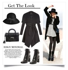 """""""Get The Look: Edgy Minimal"""" by overstock ❤ liked on Polyvore featuring women's clothing, women's fashion, women, female, woman, misses, juniors, GetTheLook, StreetStyle and edgy"""
