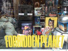 ForbiddenPlanet NYC #NYC #summer2014 #NY #ForbiddenPlanet #wow #oldschool #throwback #neat #eyesdancing #alwayloveNYC #IloveNYC #shop #buy #shoptillyoudrop
