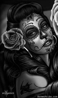 Day of the Dead Artwork. Hmmmm future tattoo idea??