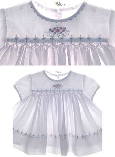 Love the smocking and embroidery.