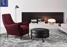 Minotti-sessel-Runder-Tisch-mit-Stühlen