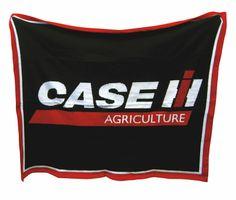 Black Case IH Logo 63x53 Custom Knit Blanket