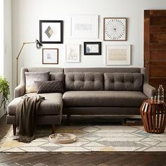 Modern furniture for every room. Find contemporary sofas, headboards, dining tables, and more at west elm furniture store. Small Living Rooms, Home Living Room, Apartment Living, Living Room Furniture, Living Room Decor, Living Spaces, Modern Living, Modern Furniture, Dallas Apartment