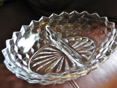Fostoria American Oval Vegetable Bowl and Divided Vegetable/Relish bowl