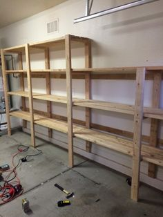 Elegant Shelves for Basement