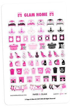 Planner Stickers Kaisercraft K Style Glorious Hot Pink Foil Sweets Booklet