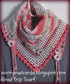 Ravelry: Road Trip Scarves pattern by zelna olivier Knit Or Crochet, Crochet Scarves, Crochet Shawl, Crochet Clothes, Easy Crochet, Ravelry Free Crochet Patterns, Knit Patterns, Road Trip Scarf, Making Scarves