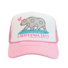California Love Trucker Hat in Pink