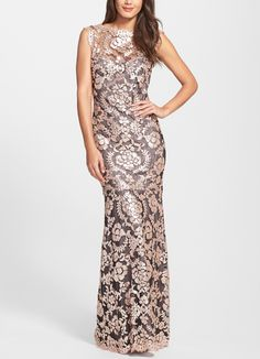 Such an elegant sequin lace mermaid gown.