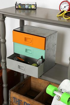 Urban Outfitters - Industrial Colorblock Cabinet