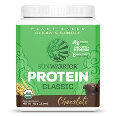 Classic Protein relies on the simple power of raw whole-grain brown rice, including the endosperm and bran, to create a gentle protein that still stack