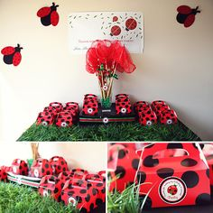 Lady Bug Party Favors