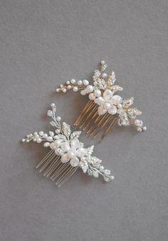 ARIES Pearl Bridal Hair Comb 3