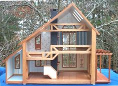 Modern Wooden Dollhouse | Madiganhouse - Brookwood and Abbott houses.