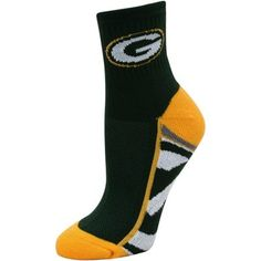 f462dee2b75 Green Bay Packers Women s Zoom Quarter-Length Socks Green Bay Packers