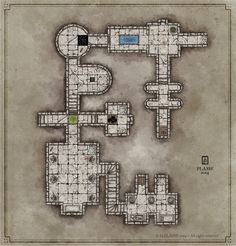 Dungeon map by Plasse 2014