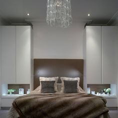 Simple and elegant bedroom storage ideas by Roundhouse Wonderful and Elegant Bedroom Decor and Design IdeasElegant Bedroom Design for Small Elegant and Modern Master Bedroom Design Ideas 2018 Bedroom Built In Wardrobe, Wardrobe Bed, Fitted Bedroom Furniture, Bedroom Closet Doors, Fitted Bedrooms, Wardrobe Furniture, Bedroom Cupboards, Bedroom Bed, White Bedroom