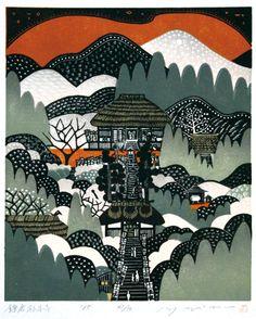 Kamakura Sugimotodera another Ray Morimura print that I like. Love the colour palette too. S
