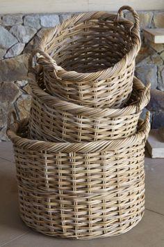 Great baskets to hold bread, veggies, supplies, bottles etc.  HATTERAS RATTAN BASKETS  $49.95