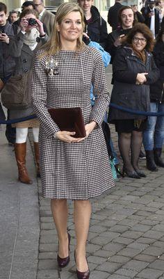 Alors qu'elle participait ce mardi à un séminaire financier à La Haye, la reine Maxima des Pays-Bas s'est vu offrir une photo gourmande de sa famille.