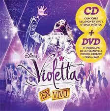 Violetta - en vivo 2013 en Formato cd + dvd ( contiene karaokes y videos)
