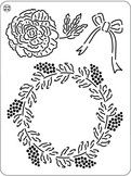 Pergamano Mini Grid - Christmas Rose-Pergamano Mini Grid - Christmas Rose Size: 3 x 4 Motifs Roses, Christmas Rose, Parchment Craft, Craft Shop, Craft Materials, Mini, Embroidery Patterns, Jewelry Crafts, Grid