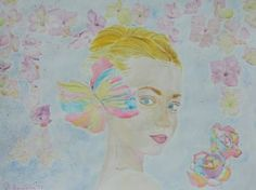 "Saatchi Art Artist Theodora Papoulidoy; Painting, ""Portrait of blonde woman""…"
