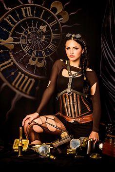 Steampunk clock by octarina8, via Flickr
