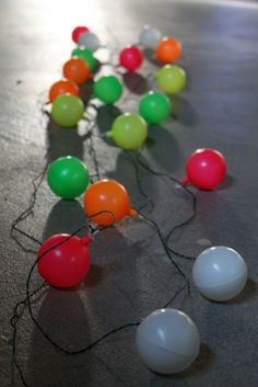 Vintage Neon Party Patio Light Strand with 19 Lights. $38.00, via SelectedAndCollected on Etsy