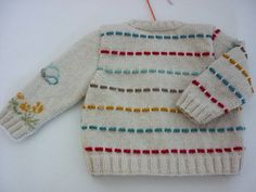 Hand knit baby cardigan Easter.Unisex baby cardian.