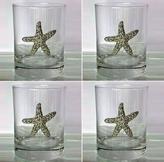 Starfish Pewter & Glass Tumbler $79.00