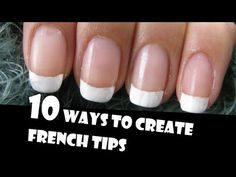 10 ways to create french tips manicures giveaway winners how French Manicure Nail Designs, French Tip Nail Art, Simple Nail Art Designs, Easy Nail Art, Nails Design, One Direction Nails, Sponge Nail Art, Do It Yourself Nails, Nagel Hacks