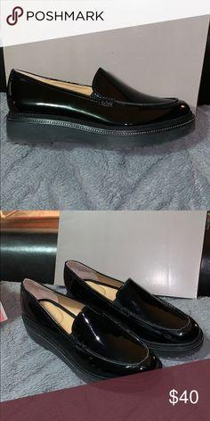 47e2b9d8cc9 Black patent leather Franco Sarto slip ons Black patent leather Franco Sarto  slip ons Franco Sarto