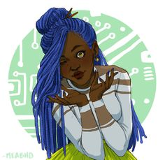 from The Lunar Chronicles by Marissa Meyer Iko Black Girl Art, Art Girl, Lunar Chronicles Cinder, Marissa Meyer Books, Fanart, Best Series, Book Fandoms, Book Characters, Book Worms