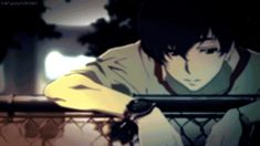 I can see the dark zankyou no terror  lisa risa twelve anime gif ep 4
