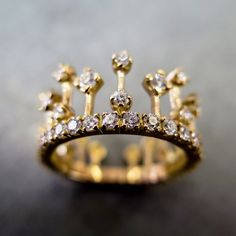 bague couronne - crown ring