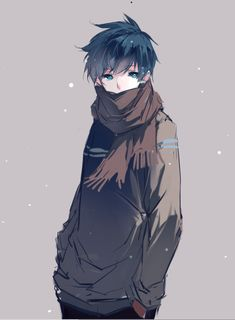 Haru during winters wearing winter clothes, sarf, muffler